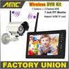NEW 7 Inch Monitor Wireless CCTV Kit 2 4GHz 4CH Channel CCTV DVR 1PCS Wireless Cameras