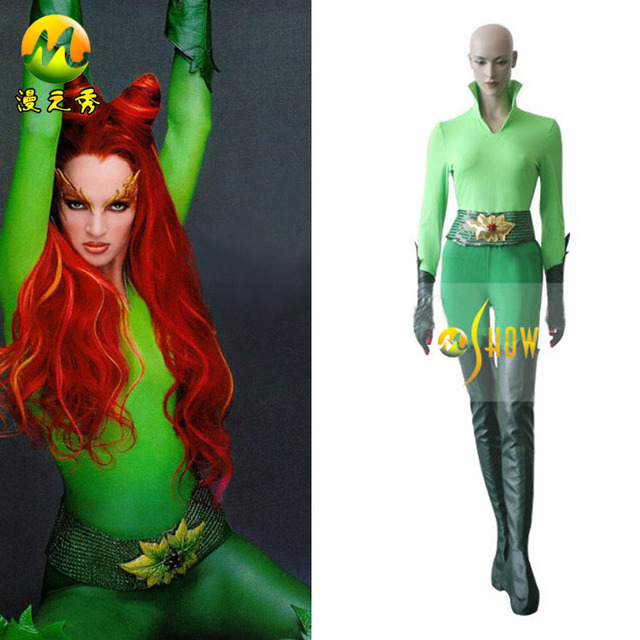 Batman And Robin Poison Ivy Cosplay Costume Sexy Women Green