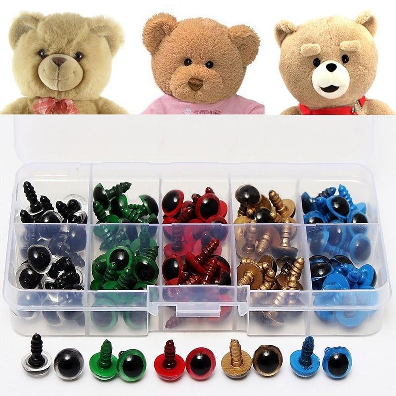 100PCS 8mm Black Safety Eyes for DIY Teddy Bear Soft Toys Animal Mask Doll