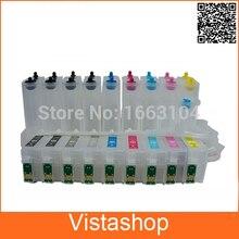 1 Unidades 9 Colores CISS Vacío Para Epson T1571-T1579 Sistema de Suministro Continuo de Tinta Para Epson Stylus Photo R3000