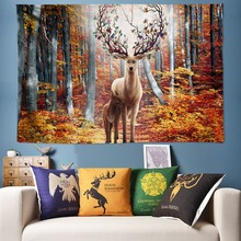 Forest Elk Tapestry Psychedelic Decoration Wall Tapestries Large Hanging Big Cloth Fabric Art Pictures 200*300cm