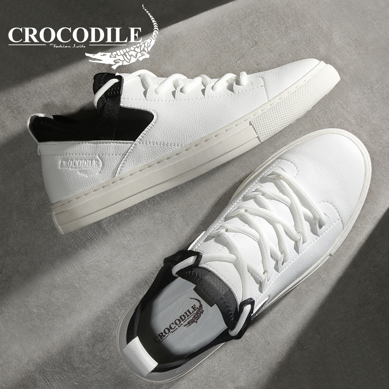 Crocodile D'origine Hommes Baskets Plat Véritable Chaussures En Cuir Mâle Jogging Athlétique Planche À Roulettes Chaussures de Sport Chaussures pour Hommes