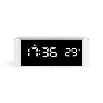 cd066196d6e0 Electrónica escritorio luminoso Diy hecho escritorio espejo reloj  despertador termómetro con retroiluminación Luminova Led Digital de reloj  hogar