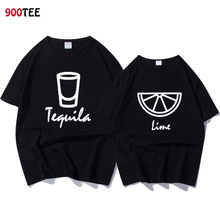 Fashion Brand Couple T-shirt Women Letter Print Tequila Lime Funny T Shirt  Loose Summer fba861450b42