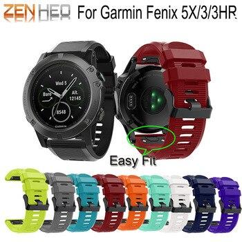 Pulsera para Garmin fenix 5X correa de reloj 26mm correa de repuesto deportivo para Garmin Fenix 3/3HR/5X pulsera para hombre y mujer