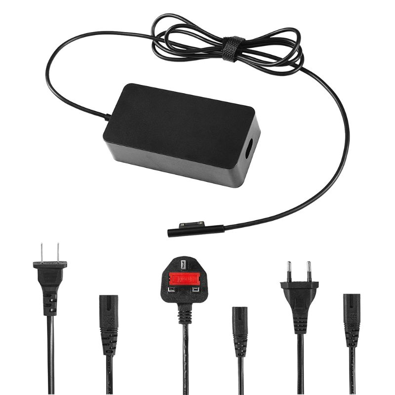 Charger AC Adapter 15V 4A USB Charging Port Power Supply Laptop PC Tablet US UK EU Plug for Microsoft Pro 5/4/3 Surface Book