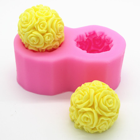 Resin Craft Rose silicone mold chocolate fondant cake candle Molding Handmade Soap Candle Casting Mold