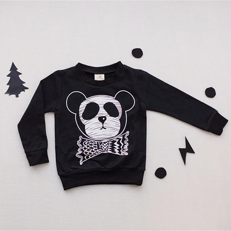 1For Boys Girls Sweater T-Shirts Clothes Autumn Winter New Panda Bear Printing Tops Kids Sweatershirt  Tees Clothing Full Sleeve 07