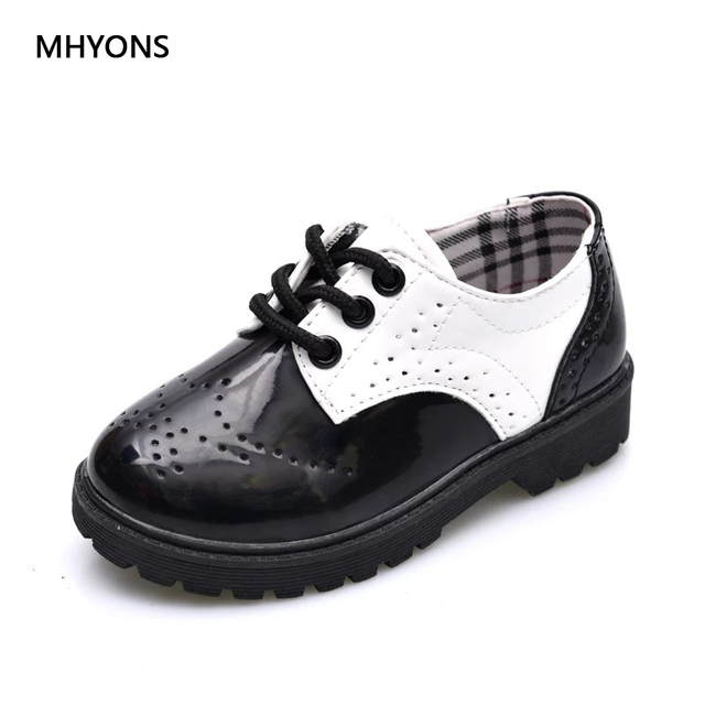 61eaa7eda9 US $12.76 |MHYONS 2018 New Spring Summer Autumn Kids Shoes For Boys Girls  British Style Children's Casual Sneakers PU Leather Fashion Shoes-in ...