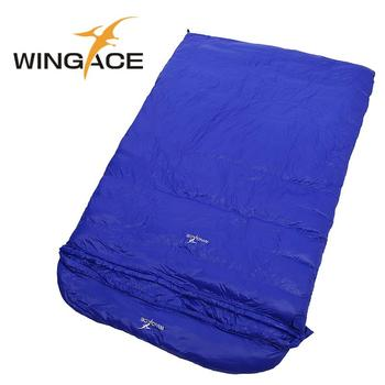 down sleeping bag autumn and winter outdoor adult envelope style thickening thermal duck down sleeping bag 400 1500g filling WINGACE Fill 1000G 2000G 3000G 4000G 5000G Duck Down Envelope Sleeping Bag Camping Outdoor Hiking Adult Double Sleeping Bags