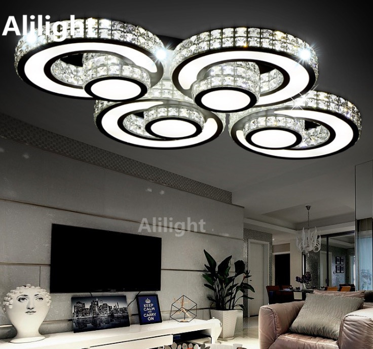 Moderne Kristall Deckenleuchten Fernbedienung Einstellbare Plafondlamp Kreative Wohnzimmer Innenbeleuchtung Decor LeuchtenChina Mainland