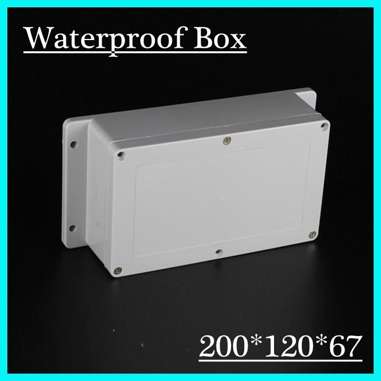 цена на 200*120*67mm Instrument plastic junction box plastic enclosure belt ears shell ip68 plastic waterproof enclosure