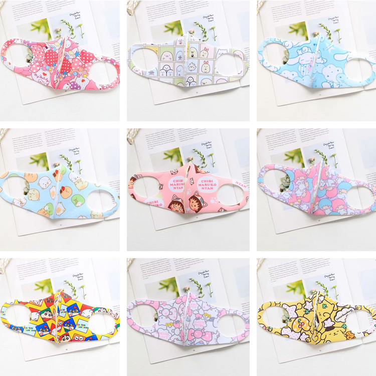 1pc Anime Cartoon My Melody TSUM Mickey Mouth-muffle Cover Unisex Sumikko Trendy Mask Face Mask For Girls Gifts