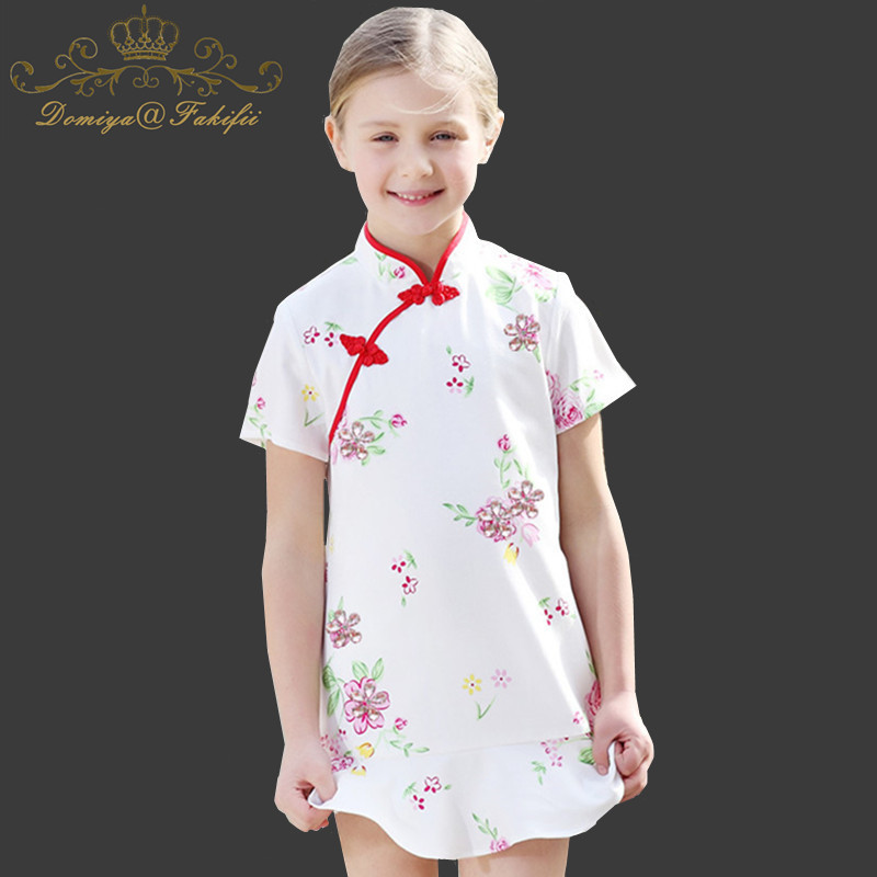 Baby Girls Summer Dress Robe Fille 2018 Brand Children Clothes Girl Dress Kids Clothing Flower Print Princess Costume Vestidos children dress princess costume robe fille enfant cotton 2016 brand kids dresses for girls clothes poppy floral baby girl dress