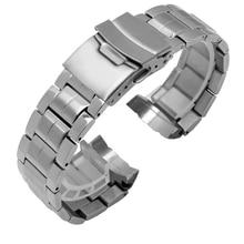 Мужские ремешки для часов ENXI, Сменные Металлические ремешки из нержавеющей стали для браслета casio, с ремешком на руку для мужчин