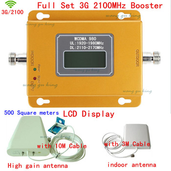 Full Set LCD Display For Russia 3G 2100MHz Mobile Phone Signal Booster 3G 2100 Signal Repeater Amplifier Cover 500 square meters
