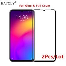 2Pcs Meizu Note 9 Glass Tempered for Film 9H Full Glue Cover Screen Protector