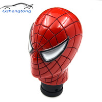 Gzhengtong Carved Spider Man Universal Fit Car Auto Gear Stick Shift Lever Knob Red Color Car