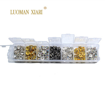 Venta al por mayor en caja 4/5/6/8/10mm ruedas de cobre espaciadores cuentas de diamantes de imitación para la fabricación de joyas de oro plateado Color mezclado AB plateado DIY