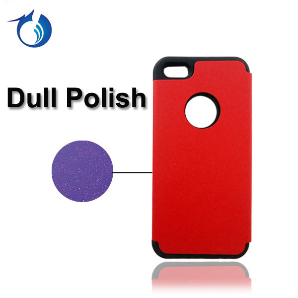 Dull Polish PC Phone Case With Silicone Combo Case For iPhone 4 4S By Free Shipping,5pcs/lot,mix colors