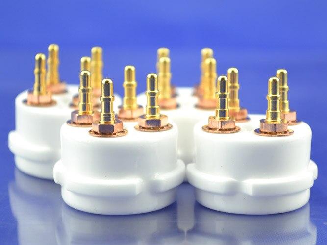 Керамический 4 Пина ламповая панель подходит для 300B/2A3 10 штук