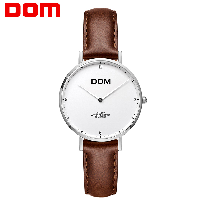 Brand Women Watches Simple Leather Wristwatch DOM G 36 Lady Luxury Dial Watches Mixmatch Relogio Feminino