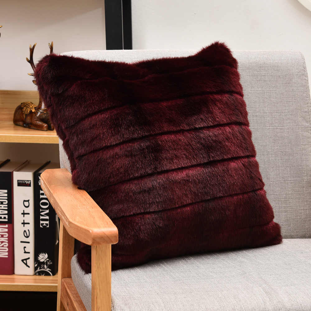 Detail Feedback Questions About High Quality Wine Faux Fur Pillow