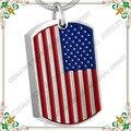 Cmj8461 Unique Jewelry 316L cremación Memorial de la bandera americana de impresión cenizas etiquetas colgantes inoxidable