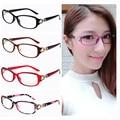 Офис Леди Новый овальный легкий вес женщин стильный цветок очки кадр moderen Очки украшения кадров