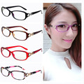 Office Lady New oval light weight women stylish flower eyeglasses frame moderen Spectacles decoration frames