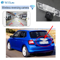 YESSUN For Skoda Fabia Mk3 (NJ) 2015~2016 back up Reverse Camera Auto Wireless Rear View Camera Rear View Camera Night Vision