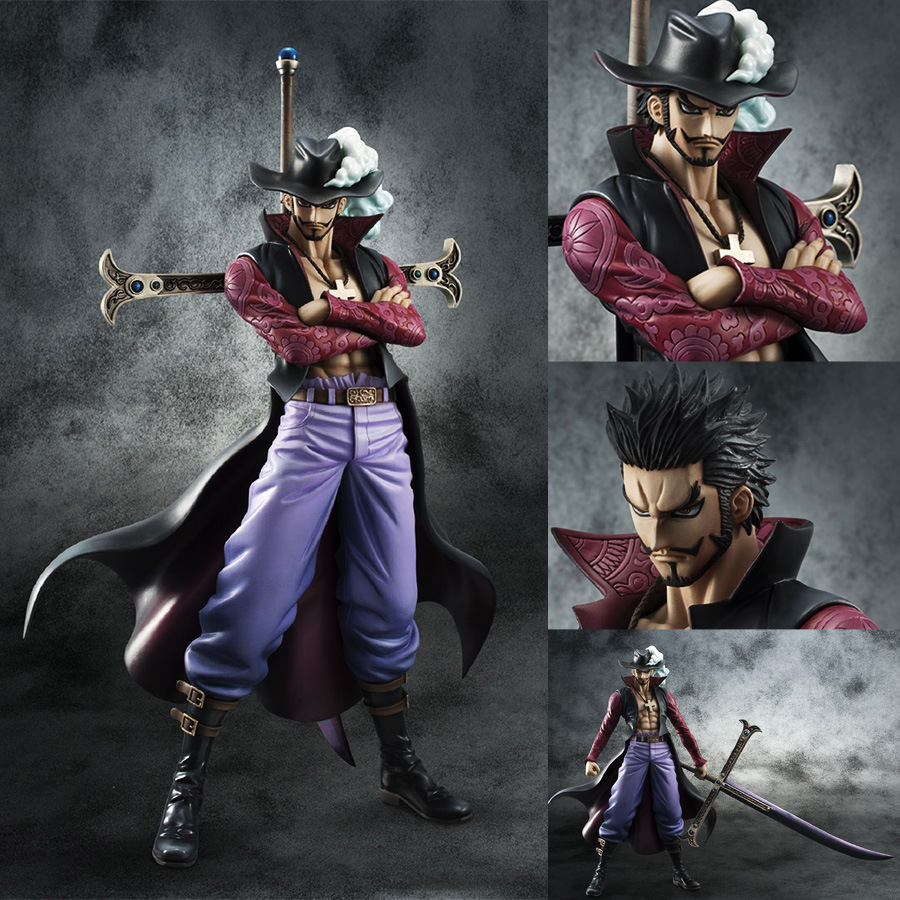 9.5 Inch One Piece Dracule Mihawk POP DX Hawk Eye 24cm Action Figure Model Collection Gift toy 22cm anime one piece pop dracule mihawk pvc action figure collection model toy op054
