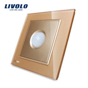 Image 3 - Livolo New Human Induction Switch, motion sensor switch ,Crystal Glass Panel, AC 110~250V led light  Switch W291RG 12/11/13