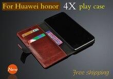 Новый высокое качество Роскошные кожаный чехол для Huawei Honor 4X играть кожаный чехол модные оригинальные оболочки Huawei 4X сотовом телефоне случае