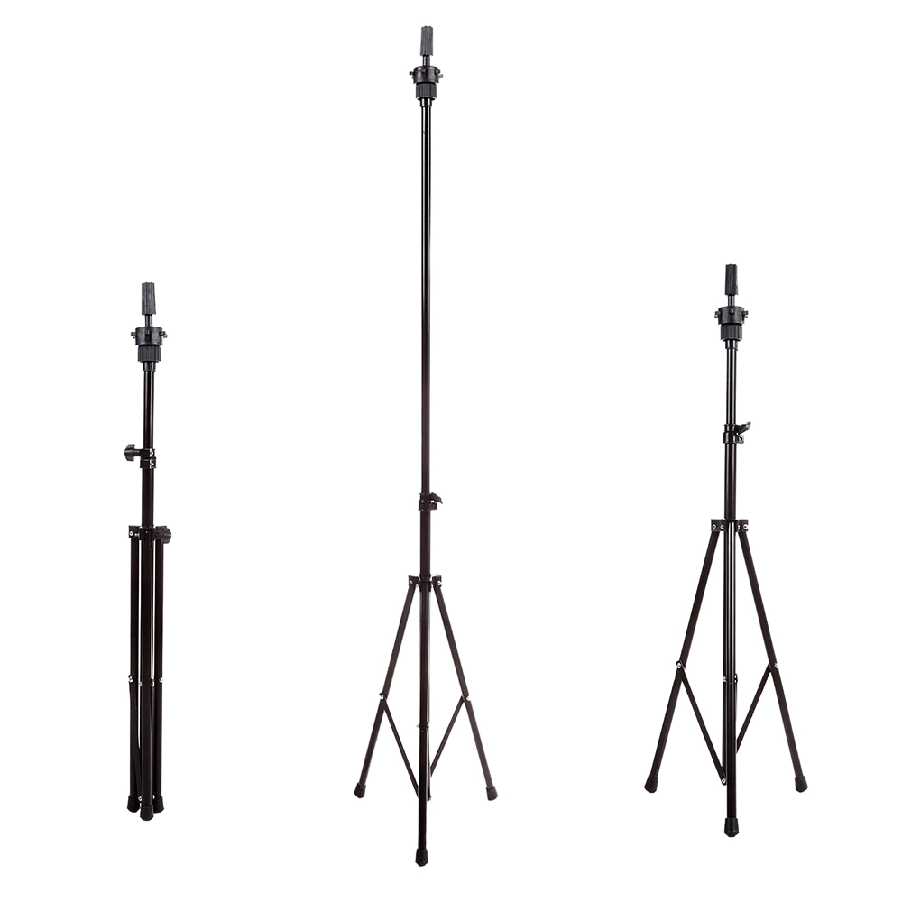 Top Deals Adjustable Professional Portable Wig Head Stand Tripod Holder Mannequin Tripod for Hairdressing Training w Carry Bag steel mannequin tripod stand hair salon adjustable tripod wig stand hairdressing training head clamp holder