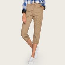 Wasteheart Summer Women Fashion Khaki Green Long Pants Harem High Waist Calf Length Female Casual Plus Size Pockets