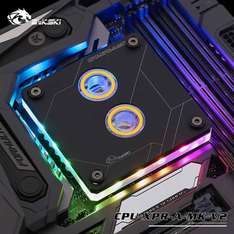 Bykski CPU XPR A MK V2 For Intel Lga115x 2011 CPU Water Blocks RBW Lighting System