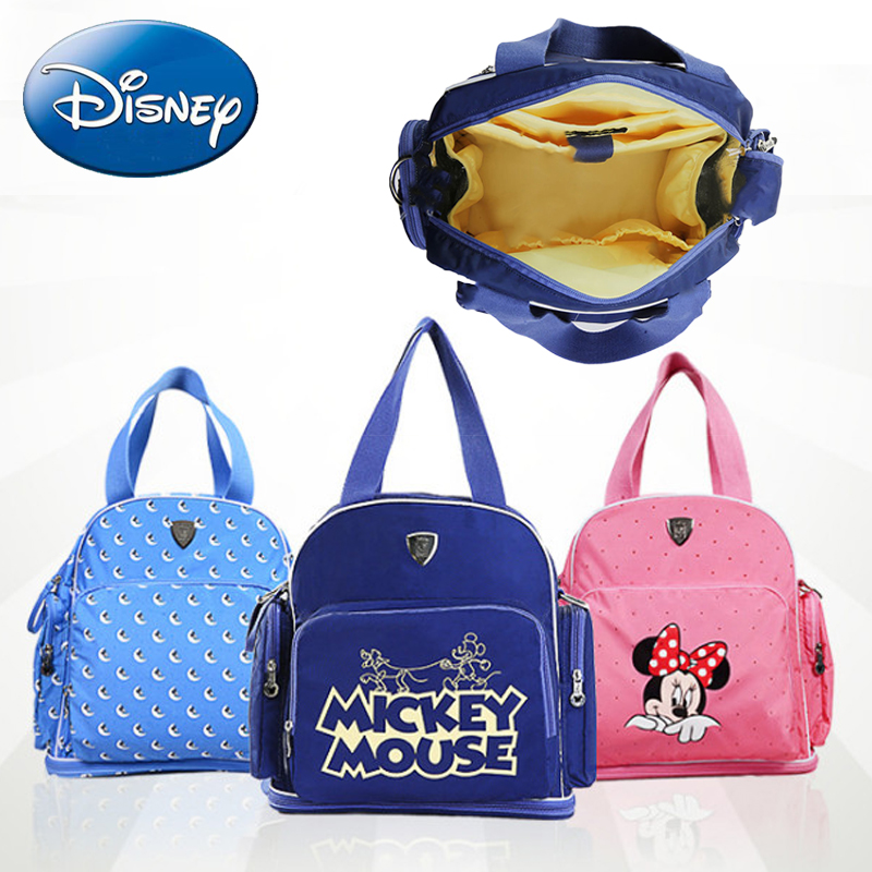 DISNEY Waterproof Diaper Bags Bottle Mommy Maternity Nappy Bag Travel Backpack Baby Stroller For Mom Storage Nursing Mummy Bag promotion diaper bags organizer storage mummy bags for mom baby bottle multifunctional