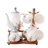 8 шт., 15 шт. Кофейные Наборы, европейский стиль послеобеденный чайный набор для дома керамическая кофейная чашка чайный горшок набор для зава