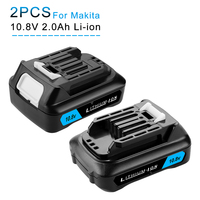 10.8V 12V CXT Lithium 2000mAh Rechargeable Battery for Makita BL1021B BL1041B BL1015B BL1020B BL1040B 197402 Power Tools