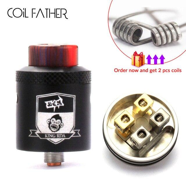 Cuộn dây CHA Vua RDA Atomizer 24mm Đường Kính 810 Sợi Điều Chỉnh Luồng Khí với BF Squonk Pin Xe Tăng Cho E Thuốc Lá hookah Box Mod