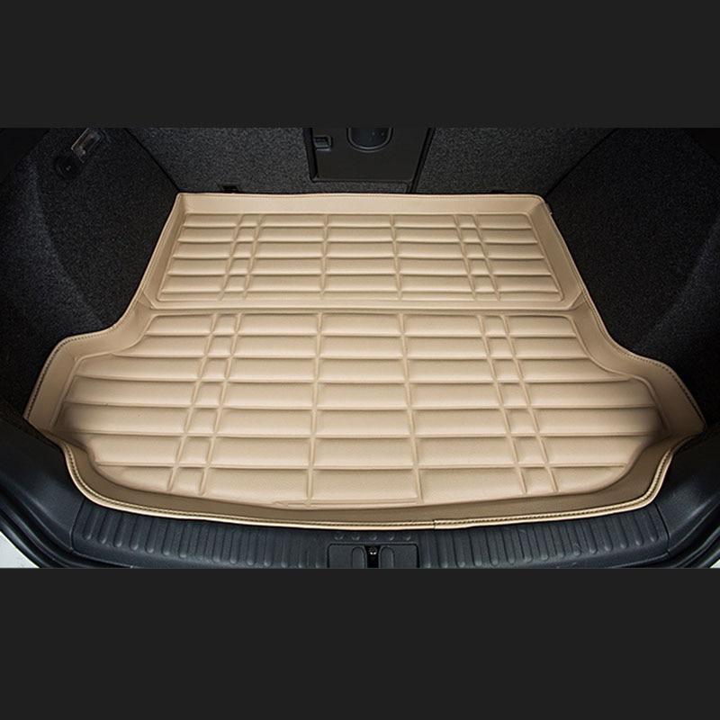Fit Car Custom Trunk Mats Cargo Liner for Peugeot 206 207 301 308 Car-styling 5D Carpet Rugs fit car custom trunk mats cargo liner for nissan livina sylphy teana qashqai car styling 5d carpet rugs