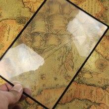 Loupe de lecture lentille Loupe livre grossissement de Page X3 180x120mm pratique feuille de PVC plate A5