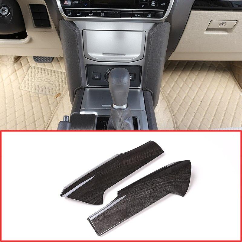 For Toyota Land Cruiser Prado FJ150 150 2018 Black Ash Wood ABS Center Console Decoration Panel