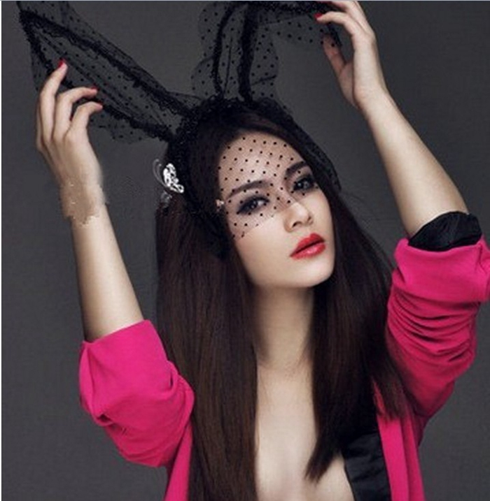 Sex Hot Bunny Rabbit Ears Fascinator Lace Mask For Christmas Costume  Party-in Party Masks from Home   Garden on Aliexpress.com  8904afbb5f7