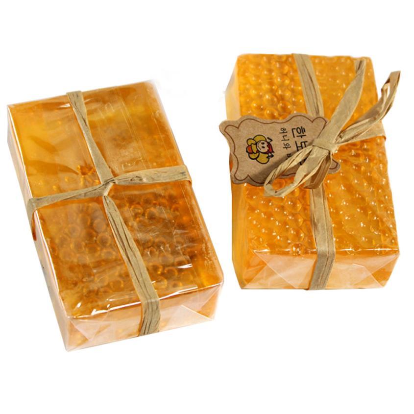 100% HandMade Soap Whitening Peeling Glutathione Arbutin Honey Kojic Acid Soap Skin Care 90g 5JY6