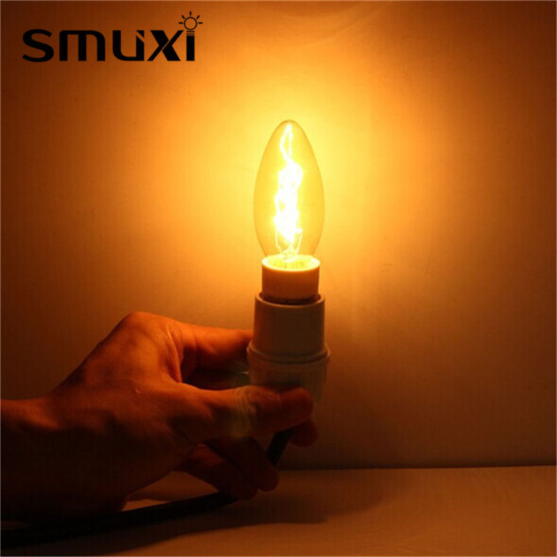 Vintage Edison Retro Light Bulb E14 C35 25W/40W Incandescent Bulbs Candle Light AC220V For Pendant Lamp Home Decoration Lighting