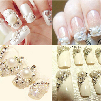 Wholesale SS3-SS40 Clear Crystal White 3D Nail Art Decoration rhinestones Silver Flatback Rhinestones Glitter Gems. 4