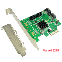 Marvell 88SE9215 Chipset 4 Ports SATA 6G PCI Express Controller Card PCI E To Quad SATA