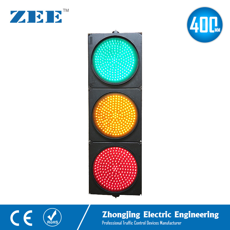 16 inches 400mm LED Traffic Light Red Yellow Green LED Traffic Signal Light LED Vehicle Singal Lights Road Signals